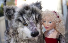 Kashuu the wolf and  Emmoise the fae (A Norwegian hulder)  https://www.etsy.com/no-en/listing/186927060/magical-companions-wolf-and-little-fae?ref=shop_home_feat_4