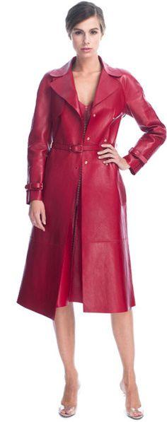 Leather Trench Coat - VALENTINO