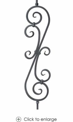 Single Twist Baluster l Wrought Iron Balusters l Iron Railings l Stair Parts l Stair Hardware only $23.25 - Scroll Iron Balusters