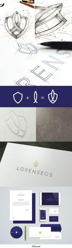 LORENSEGS // Insurance Company Identity by IndustriaHED (via Creattica)