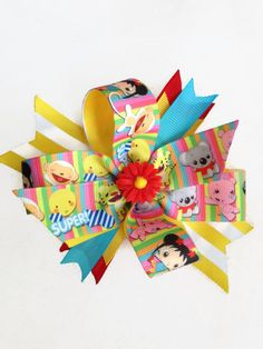 Hey, I found this really awesome Etsy listing at https://www.etsy.com/listing/200258547/ni-hao-kai-lan-girls-pinwheel-daisy