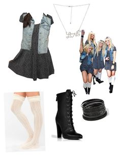 Rydel lynch inspired outfit (loud music video) by itsjazzxo123 on Polyvore featuring Sparkle & Fade, Levi's, Balmain and Wet Seal