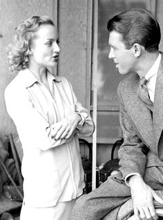 """""""Carole Lombard and James Stewart photographed by Alfred Eisenstaedt, 1938. """""""