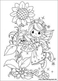 Cute little girls - Precious Moments coloring pages. Description ...