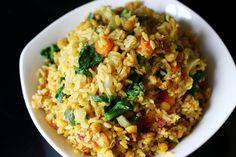 Healing Kitchari – Turmeric Spiced Brown Rice, Lentils, Veggies