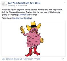 Can the tobacco industry survive a John Oliver humor attack?