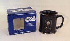 Star Wars Rawcliffe Black Pewter Ceramic Mug-Chicken Walker 1996