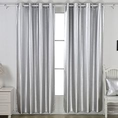 DeconovoR Heavy Duty Thermal Insulated Grommet Winter Blackout Curtains Lined With Polar Fleece For Bedroom 52 X 84 1 Pair Dark Grey