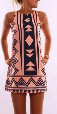 Sleeveless mini dress fashion ( like style not pattern) Mode Style, Style Me, Look Fashion, Fashion Women, Cheap Fashion, Fashion Trends, Runway Fashion, Latest Fashion, Corporate Wear