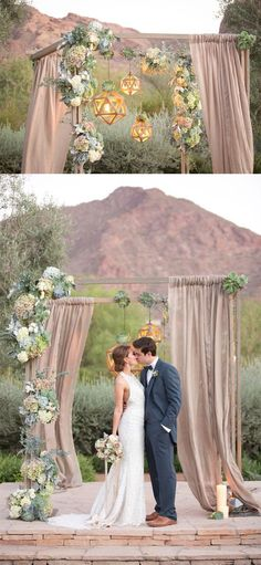 rustic wedding archi
