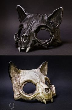 Cat Skull Mask di FraGatsu su DeviantArt - Cat Skull Mask di FraGatsu You are in the right place about mask theatre Here we offer you the most - Cat Skull, Skull Mask, Cat Mask, Skull Artwork, Skull Painting, Skull Drawings, 3d Pokemon, Armadura Cosplay, Skull Reference