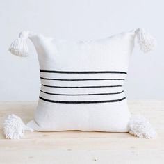 Moroccan Berber Pillows and cushions Handmade & Hand-Woven the traditional way in Marrakesh, Morocco by skilled artisans. Decorative Items, Decorative Pillows, Throw Pillow Covers, Throw Pillows, Berber, Bohemian Interior, Beautiful Textures, Cotton Pillow, Hand Weaving