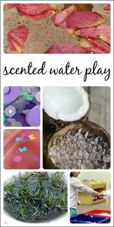Fun ideas for adding the sense of smell into water play sensory bins!
