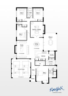 House plans contemporary house plan free modern for Ross north home designs