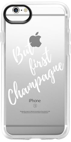 Casetify iPhone 6 เคส New Standard - But first champagne! /white typograpy clear case by Marta Olga Klara #Casetify
