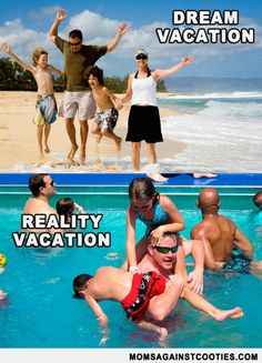 PIN if you can relate and COMMENT with your dream summer vacation (with or without the kids).