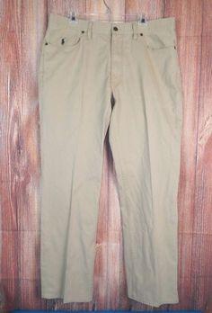 Polo Ralph Lauren Mens 5 Pocket Dungarees Pants Straight Fit Twill Sz 36x30 #5 #PoloRalphLauren #ClassicStraightLeg
