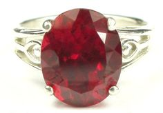 SR139, Created Ruby, 925 Sterling Silver Ring * Stone Type - Created Ruby * Approximate Stone Size - 11x9mm  * Approximate Stone Weight - 4.5 ct  * Jewelry Metal - Solid .925 Sterling Silver  * Approximate Metal Weight - 2.6 grams  * Ring Size - Size selectable during checkout * Our Warranty - A full year on workmanship  * Our Guarantee - Totally unconditional 30 day guarantee