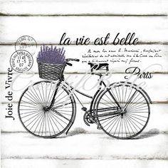 Vintage vélo française La Vie Est Belle Large noir par CreatifBelle