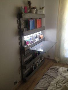 Bureau Gain De Place / Office Folding Pallet Desk Desks & Tables