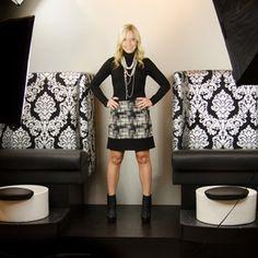 SnapWidget | Stella Pedicure Chair & #NicoleMiller #Artelier collide for a fashion statement in black, white and silver