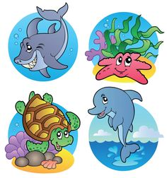 free vector Cute Cartoony Fish Vectors graphic available for free download at 4vector.com. Check out our collection of more than 180k free vector graphics for your designs. #design #freebies #vector #floral