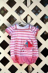 Cute little girls sailboat onesie! $0.79