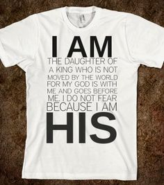 I AM HIS - glamfoxx.com - Skreened T-shirts, Organic Shirts, Hoodies, Kids Tees, Baby One-Pieces and Tote Bags