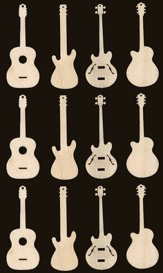 Guitar Assortment Natural Craft Wood Cutouts 935 is part of Nature crafts Wood - prices listed Great for party favors, scrapbooking, ornaments of other items in various styles and sizes available, just ask Awesome Woodworking Ideas, Woodworking For Kids, Woodworking Joints, Woodworking Crafts, Woodworking Shop, Woodworking Furniture, Woodworking Plans, Woodworking Organization, Woodworking Basics