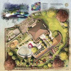 I will definitely be using him again. Landscape Architecture Drawing, Landscape Sketch, Landscape Design Plans, Garden Architecture, Landscape Drawings, Architecture Plan, Architecture Artists, Vernacular Architecture, Site Plans