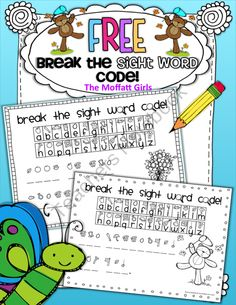 FREE Break the Sight Word Code! from TheMoffattGirls on TeachersNotebook.com (4 pages)  - Kids become little detectives as they Break the Sight Word Code!  SUPER FUN!!