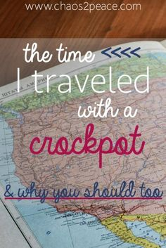 Have you ever traveled with a crockpot? You can get tips on traveling with a crockpot and on a budget.