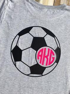 Monogram Girls' Soccer Vinyl Shirt by CutesyTDesigns on Etsy #soccertips