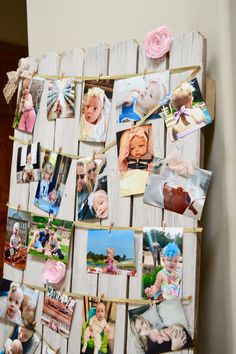 Unique picture wall utilizing old fence on funyumandfrills.com