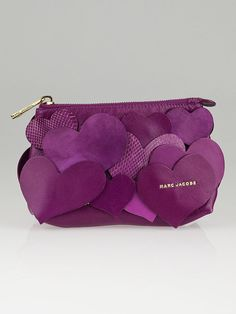 Marc Jacobs Violet Leather Love Story Clutch Bag