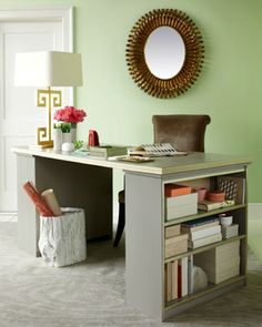 Cool desk idea! Top it with an old door and a piece of glass or mirror