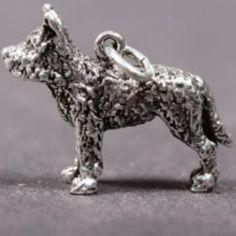 Belgian Shepherd Laekenois silver PENDANT