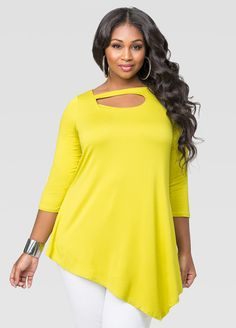 Asymmetrical Front Cut-Out Tunic Asymmetrical Front Cut-Out Tunic