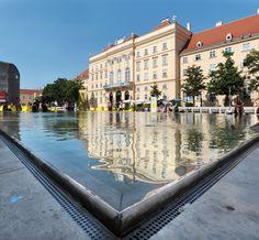 MQ Wien: Teich im Haupthof © Ali Schafler Visit Austria, Museum, Central Europe, Homeland, Vienna, North America, Ali, Vacation, Country