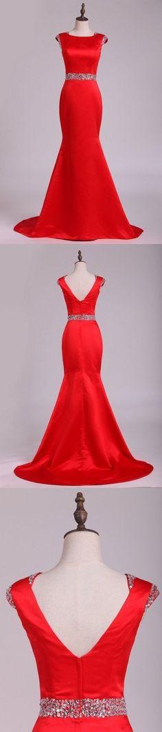 Mermaid Evening Dresses, Prom Dresses, Formal Dresses, Custom Made, Satin, Color, Fashion, Dresses For Formal, Moda