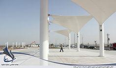سایبان و المان دکوراتیو پارچه ای دهکده گردشگری بوشهر