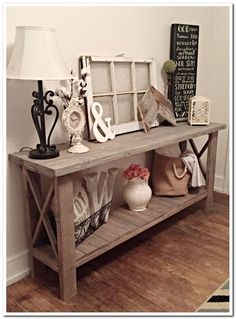 Check this, you can find inspiring Photos Best Entry table ideas. of entry table Decor and Mirror ideas as for Modern, Small, Round, Wedding and Christmas. Home Living Room, Living Room Decor, Dining Room, Deco Buffet, Country Style Homes, Deco Design, Country Decor, Farmhouse Decor, Modern Farmhouse