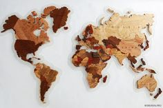 Wooden World Map. Wooden World Map. Wood World Map, World Map Art, Decoupage Wood, Plywood Boxes, Organic Glass, Wooden Map, Map Wall Decor, Cnc Projects, American Walnut