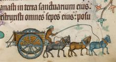 The medieval city was seen as a crowded, bustling place, with people, horses, carts and wagons all moving around. Just as in our modern city, this would all lead to inevitable traffic problems.