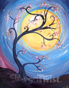 """""""Whimsical Harvest Moon """" 10/11 @ 7p - Have some fun with your trees!  #PWATIndy"""