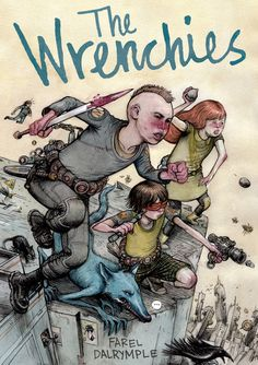 Cartoonist Farel Dalrymple brings his literary and artistic powers to bear in The Wrenchies, a sprawling science fiction graphic novel about regret, obsession, and the uncertainty of growing up. (Ages 14+)