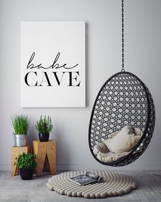 Babe Cave Wall Art Bedroom Poster Printable Poster by PxlNest