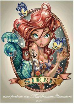 Ariel Pin-Up Tattoo