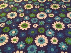 VTG Curtain Remnant 60s Graphic Daisy Print Fabric Material Retro Mary Quant Era | eBay