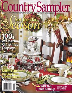 Country Sampler magazine Christmas and festive decor Holiday gifts Displays